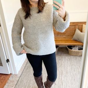 Sweaters - Heavy-Weight Grey Knit Sweater